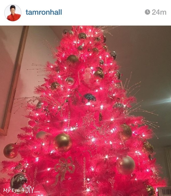 Tamron Hall from NBC's Today show went with a pop or Pink for the holidays!