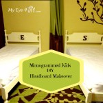 Monogrammed Kids Headboard Makeover