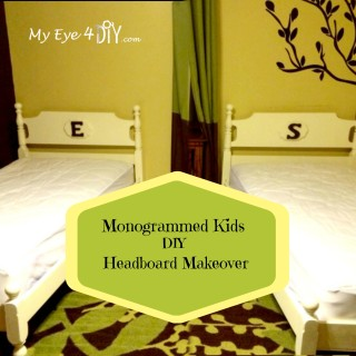 Monogrammed DIY Kids Headboard