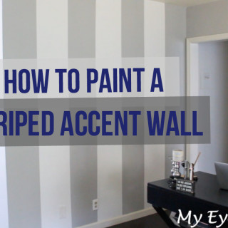 6 Steps to Painting a Striped Accent Wall!