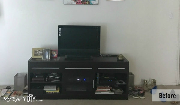 TV Stand and Wall BEFORE1