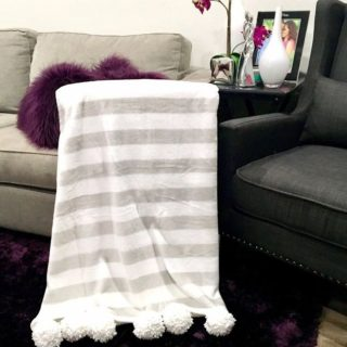 COZY COUCH EDITION PART 2: DIY Pom Pom Throw Blanket