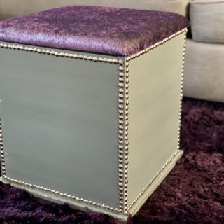Make a DIY Upholstered Storage Ottoman [Watch]