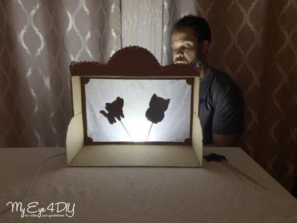 Indoor Activities For Kids - Puppet Shadow Box