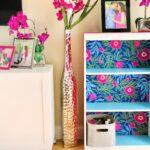 Tropical Velvet Bookcase With Self Adhesive Velvet