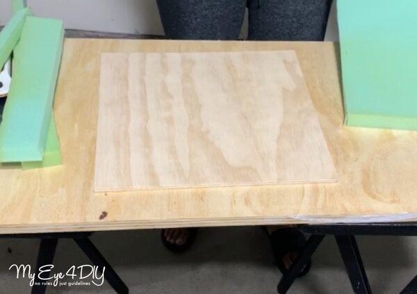 DIY Wood Ottoman