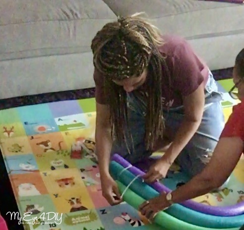 Pool Noodle Hacks - Rainbow Wall Art