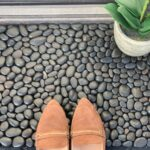 DIY Doormat with River Rocks